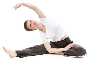 Active Person Doing Yoga